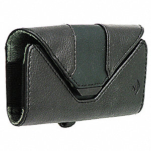 "Leather Holster Medium Horizontal, Black Oilskin Leather, 1-1/8"" Height, 4-5/8"" Width, 2-5/8"" Depth"