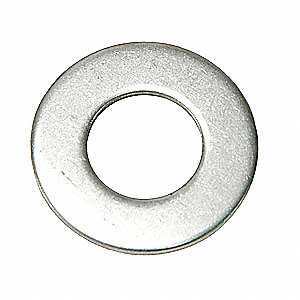 "1/4""x5/8"" O.D., Flat Washer, Stainless Steel, 316, Plain, PK100"