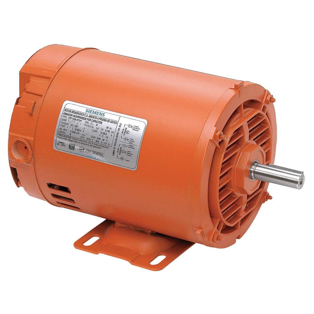 Siemens Motor 1 2 Hp Arranque Por Condensador 3600 Rpm Nominal Voltaje 127 Armazón 56 Motores Ca De Propósito General 6ulm2 1rf20000da204ab1 Grainger México