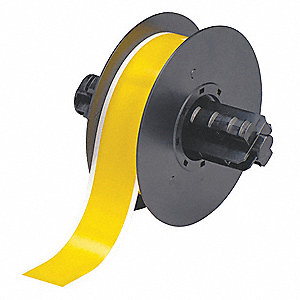 "Indoor/Outdoor Polyester Low-Halide Pipe Tape, Yellow, 1-1/8""W x 100 ft."