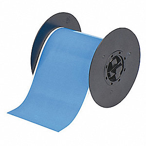 "Light Blue Polyester Low-Halide Pipe Tape, Indoor Label Type, 100 ft. Length, 4"" Width"