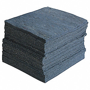 Absorbent Pads,15 In. W,Blue,PK100