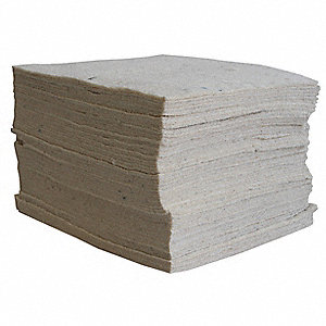 "19"" x 15"" Medium Absorbent Pad for Oil-Based Liquids, White, 100PK"