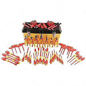 "Insulated Tool Set, Number of Pieces: 66, 3/8"" Drive Size"