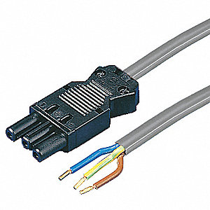Connection Cable, Copper, Gray Finish, For Use With: Enclosure Lights, 1 EA