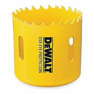 "9/16""-Dia. Hole Saw for Wood, 1-7/16"" Max. Cutting Depth, 4/5 Teeth per Inch"