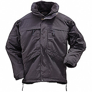 "3 in 1 Parka, 4XL Fits Chest Size 58"" to 60"", Black Color"