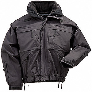"5 in 1 Jacket, L Fits Chest Size 42"" to 44"", Black Color"