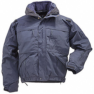 "5 in 1 Jacket, 2XL Fits Chest Size 50"" to 52"", Dark Navy Color"