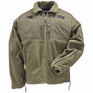5.11 TACTICAL Tactical Fleece Jacket, 4XL Fits Chest Size 58