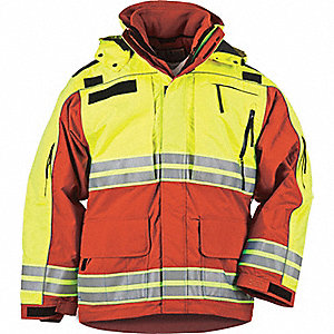 "Responder Hi-Vis Parka, 2XL Fits Chest Size 50"" to 52"", Range Red Color"