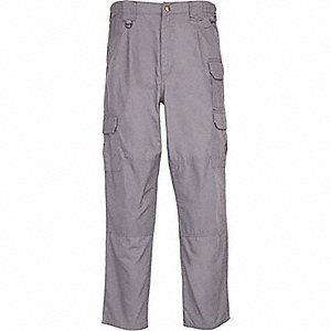 "Men's Tactical Pants. Size: 42"", Fits Waist Size: 42"" to 43"", Inseam: 36"", Gray"