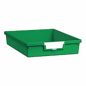 Storage Tray,Single,Length 12-1/4,Green