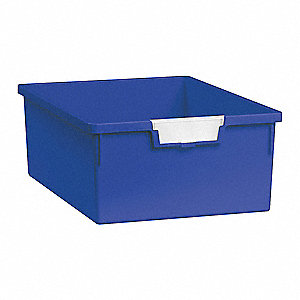 Storage Tray,Double,Length 12-1/4,Blue