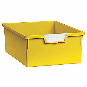 Storage Tray,Double,Length 12-1/4,Yellow