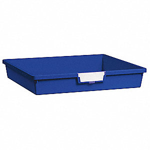 Storage Tray,Single,Length 18-1/2,Blue