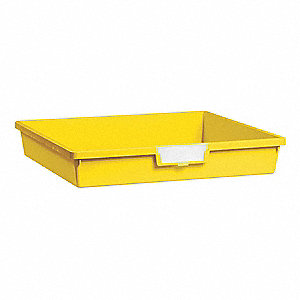 Storage Tray,Single,Length 18-1/2,Yellow