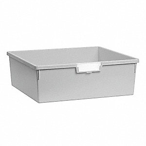 Storage Tray,Double,Length 18-1/2,Gray