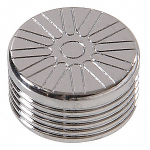 "1/4"" Button Spoke Chrome Bolt Cap"