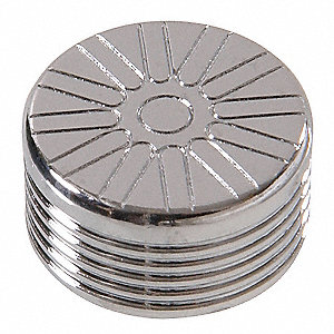 "3/8"" Hex Spoke Chrome Bolt Cap"