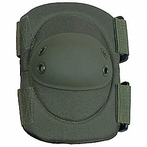 Hard Shell 2-Strap Elbow Pads, Olive Drab