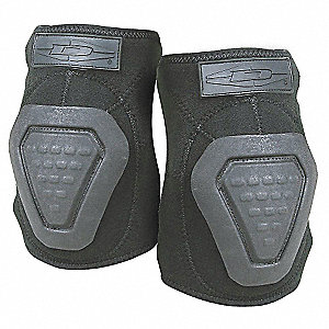 Non-Skid 2-Strap Elbow Pads, Black