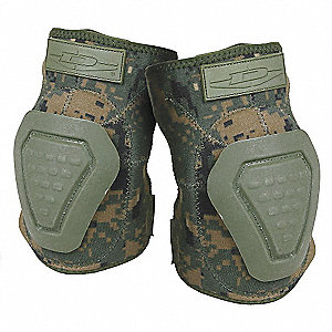 Non-Skid 2-Strap Elbow Pads, Digital Woodland Camo