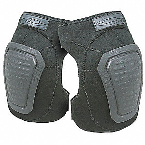 Non-Skid 2-Strap Knee Pads, Black