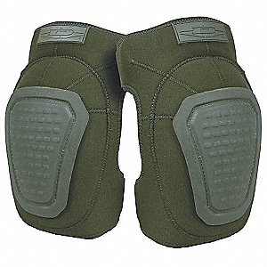 Non-Skid 2-Strap Knee Pads, Olive Drab