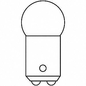 Trade Number 90, 7.5 Watts Miniature Incandescent Bulb, G6, Double Contact Bayonet (BA15d)