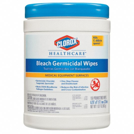 Disinfecting Cleaning Wipes,  150 ct.,  Canister,  Sheet Size 5 in x 6 in,  Ready to Use,  PK 6