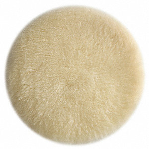 Polishing Pad,Hook/Loop,LambsWool,6 In D
