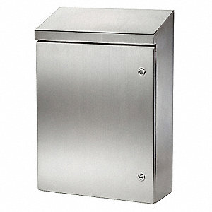 "304 Stainless Steel Sloped Top Enclosure, 48.00"" Height, 36.00"" Width, 16.00"" Depth"