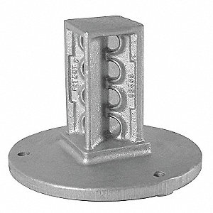 Sign Coupler,Cast Iron,Silver Color