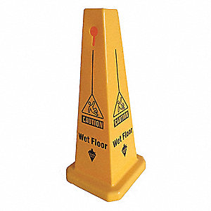 Safety Cone, Caution Wet Floor, English
