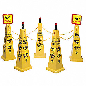 Cone Kit, Caution Safety First, Eng/Sp