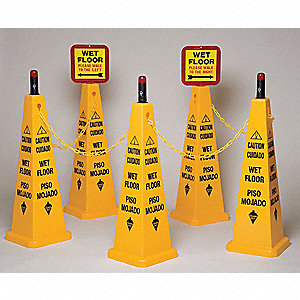 Cone Kit, Caution Wet Floor, Eng/Sp