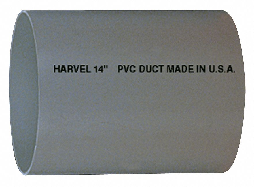 Type I PVC Duct Pipe, 8 in Duct Fitting Diameter, 10 ft Duct Fitting Length