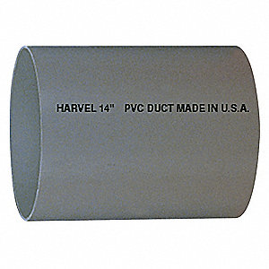 PVC Duct,8 In, 10 Ft