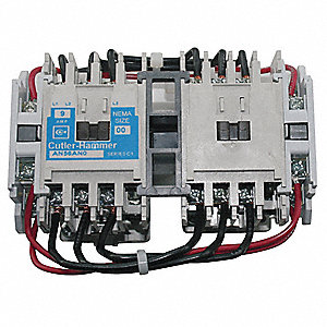 120VAC NEMA Magnetic Contactor; No. of Poles: 3, Reversing: Yes, 18 Full Load Amps
