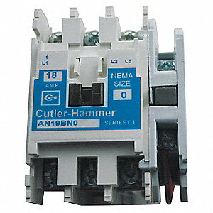 240VAC NEMA Magnetic Contactor; No. of Poles: 3, Reversing: No, 18 Full Load Amps
