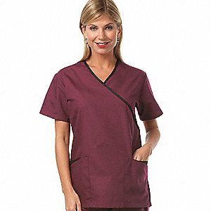 Women's Shirt, Black/Burgundy M