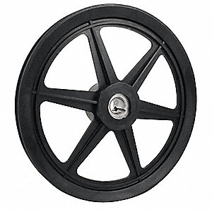 "V-Belt Pulley,5/8""Fixed,9.25""OD,Nylon"
