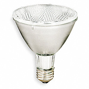 38 Watts Halogen Lamp, PAR30L, Medium Screw (E26), 550 Lumens, 2850K Bulb Color Temp.