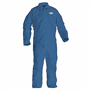 Flame-Resist Coverall,Blue,4XL,HRC1,PK21