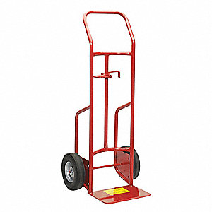 Chime Jaw Drum Truck, Continuous Frame Flow-Back, Load Capacity 800 lb.,  Overall Height 48""