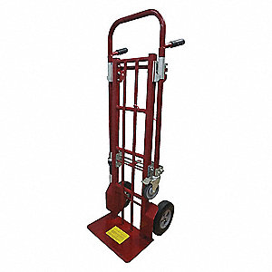 Convertible Hand Truck, Dual Grip, 800 lb., Overall Height 58""