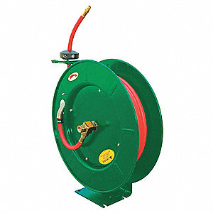 "1/4"", 50 ft. Spring Return Hose Reel, 300 psi Max. Pressure"