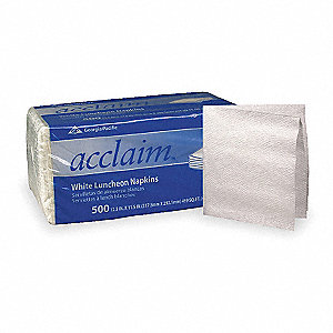 "11-1/2 x 12-1/2"" 1-Ply Plain Luncheon Napkin Acclaim®, White&#x3b; PK6000"
