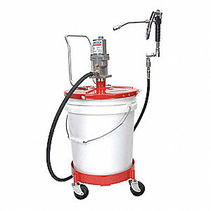 Pneumatic Grease Gun >> Grease Pump With Gun Fits Container Size 25 To 50 Lb Container 2 Air Motor Size